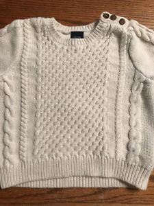 c52fe8c3e200 Baby Gap Toddler Boys Size 18-24 Months Off White Cable Knit Sweater ...