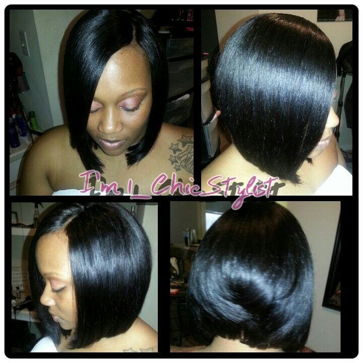 Quickweave bob w/ invisible part | Chic Styles by @16_ChicStylist ...