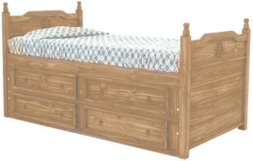 Texas Star Mesquite Full Captain S Bed By Rustic Specialists Captains Bed Bed Furniture