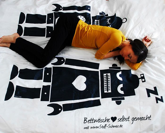 These Robot Bed Sheets Are Adorable! Get The Full Tutorial On How To Sew  Them, Including The Free Design. Or If You Are Super Crafty You Can Design  Your Own ...