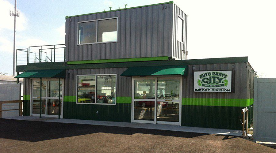 Auto Parts Shipping Container Store Shops Containers