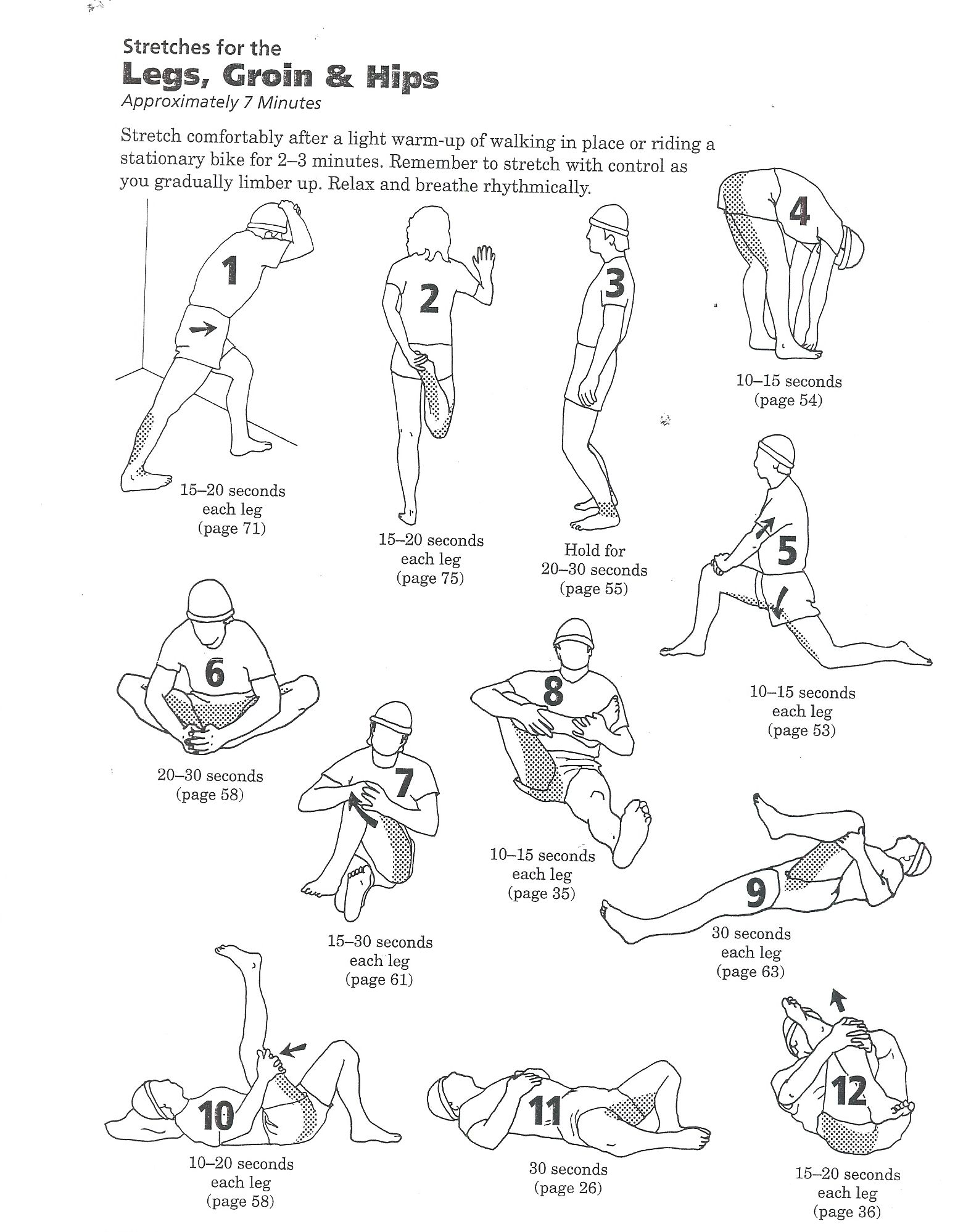 lower back exercises diagram 7 wire legs groin glutes and hips stretches backinmotion us