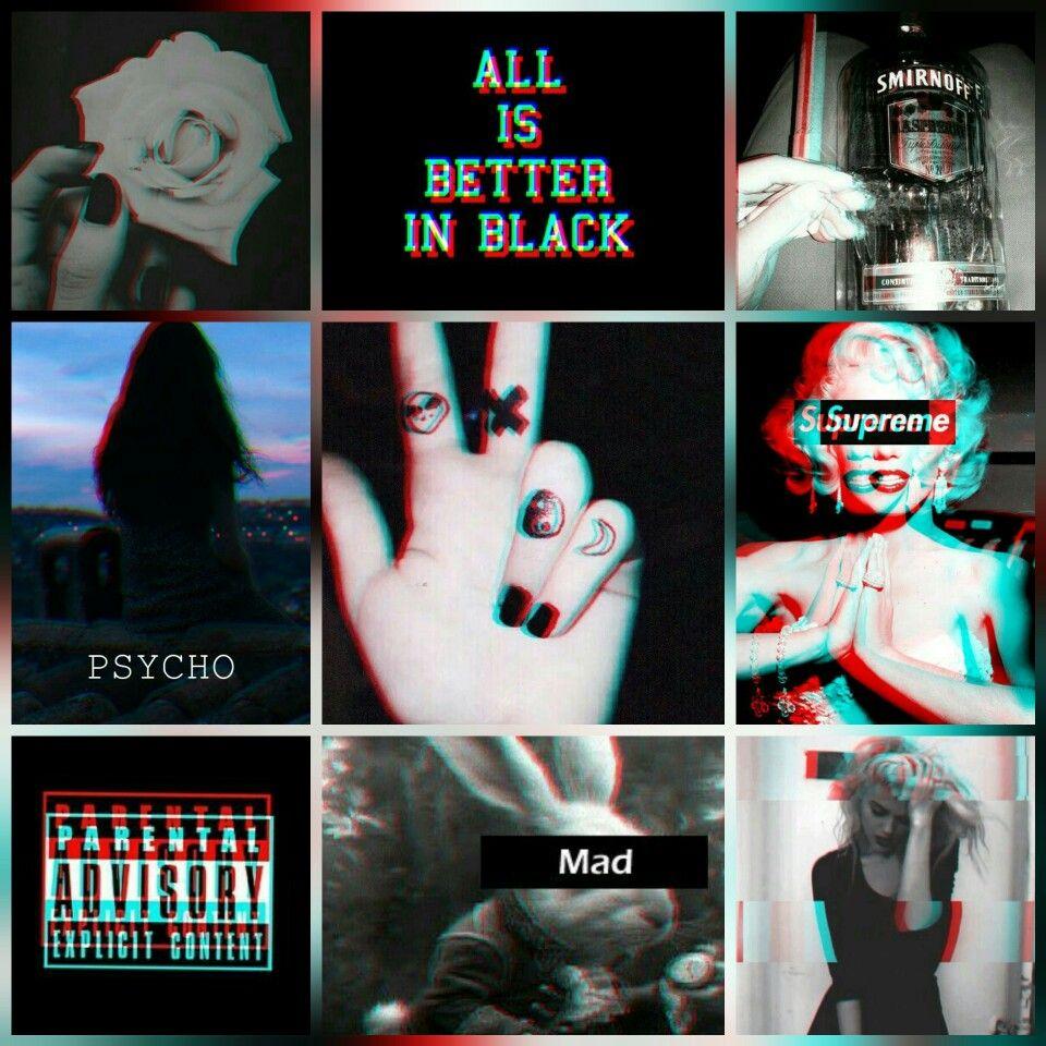 Neon White Aesthetic Collage