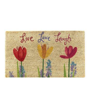 Live Love Laugh Door Mat Live Love Kitchen Rug