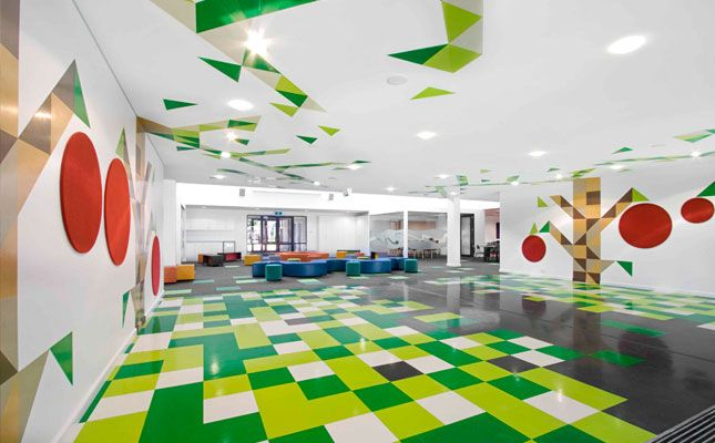Modern And Colorful Elementary School Interiors Interior Design Design Ideas Interior Design School School Interior Floor Design