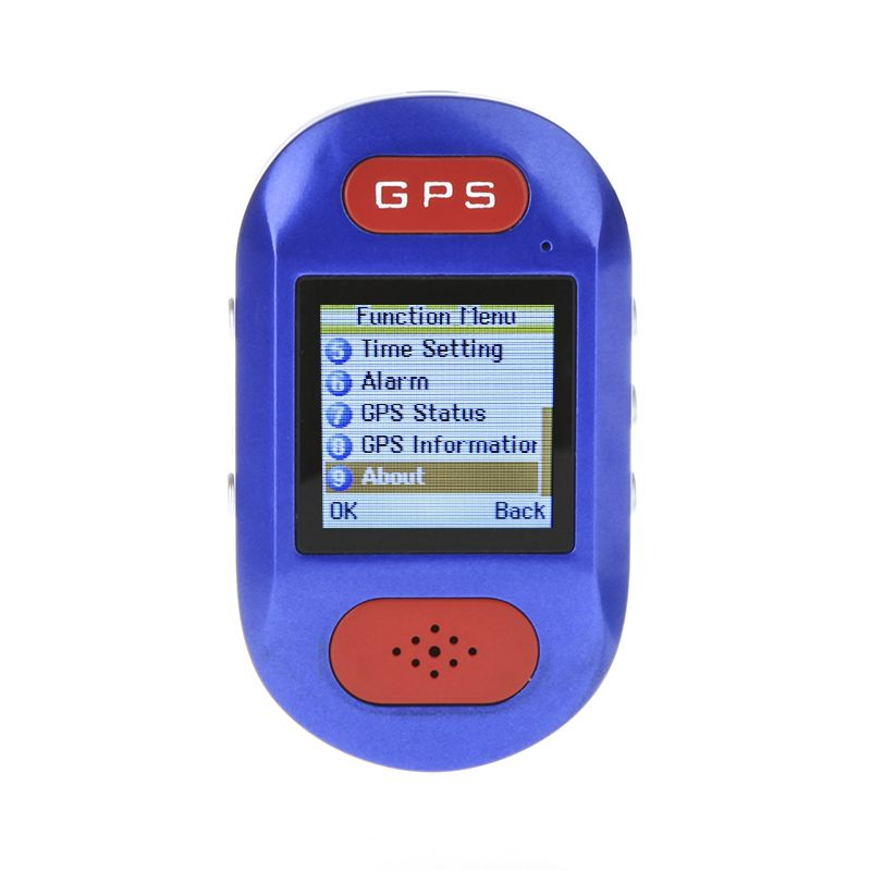 GPS Tracker GSM GPRS Surveillance Quadband SOS Cellphone Pocket Watch Blue EU Plug