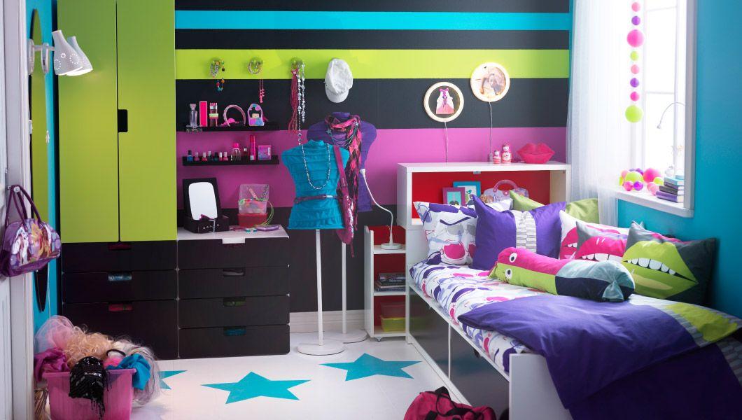 WO PERSÖNLICHKEIT ZU HAUSE IST; Kinderzimmer mit STUVA - wohnzimmer braun rot