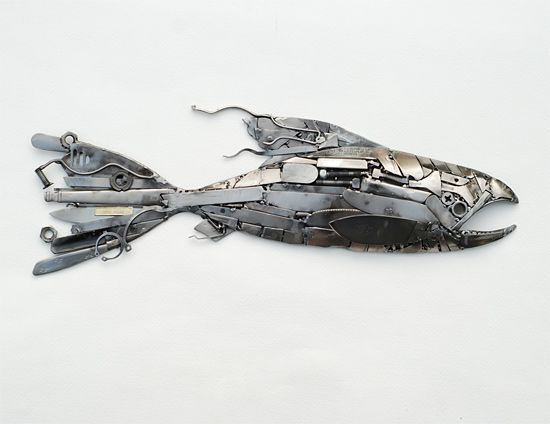 Recycled Metal Sculptures by Brian Mock   Inspiration Grid   Design Inspiration