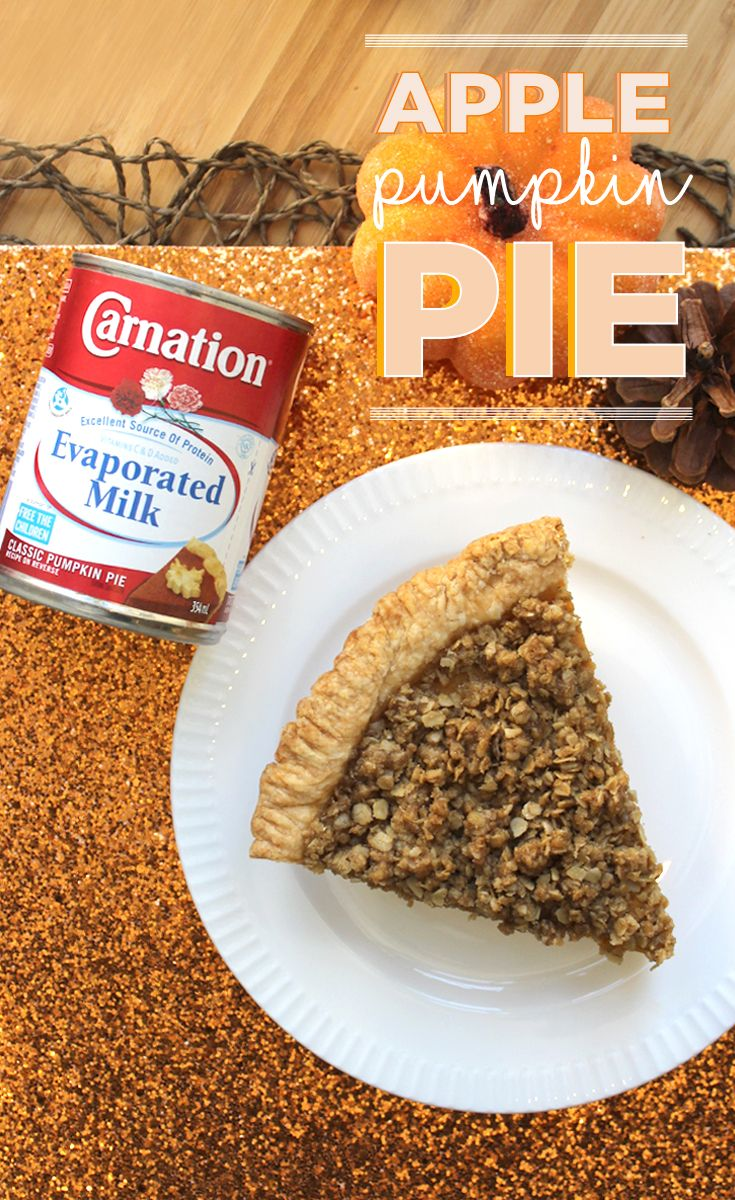 Carnation Evaporated Milk has perfected the Classic Pumpkin Pie but this Thanksgiving we've thrown in a twist – we've made a creamy 'n dreamy Apple Pumpkin Pie! #CarnationPumpkinPie #Thanksgiving #sponsored