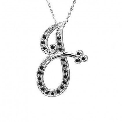 Initial j black diamond gold pendant necklace black diamond trend initial j black diamond gold pendant necklace aloadofball Images