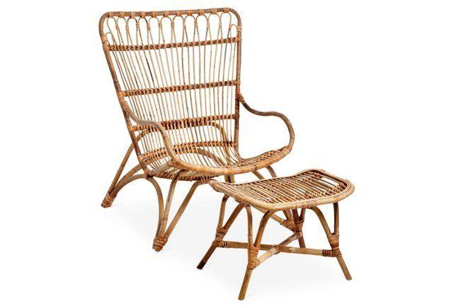 Indoor Rattan Chair U0026 Stool