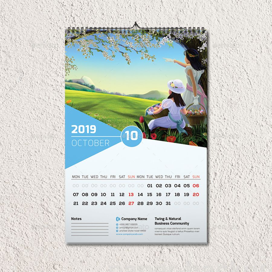 Wall Calendar 2019 Wall Calendar Wall Calendar Design