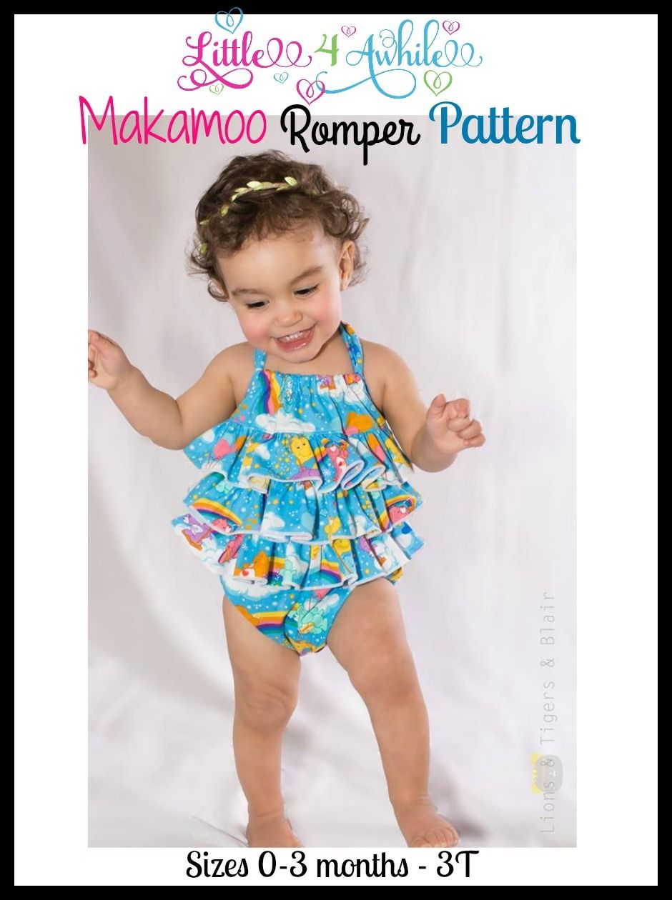 b5ed27190eda Girls Makamoo Baby Bubble Romper PDF Sewing Pattern