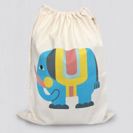 Spielzeugsack Elefant Kinder, Säckchen, Kinderzimmer
