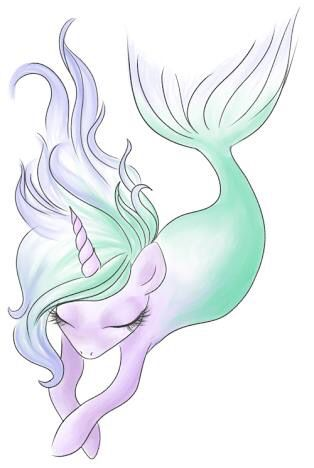 Mermaid Unicorn Art With Images Unicorn Drawing Unicorn