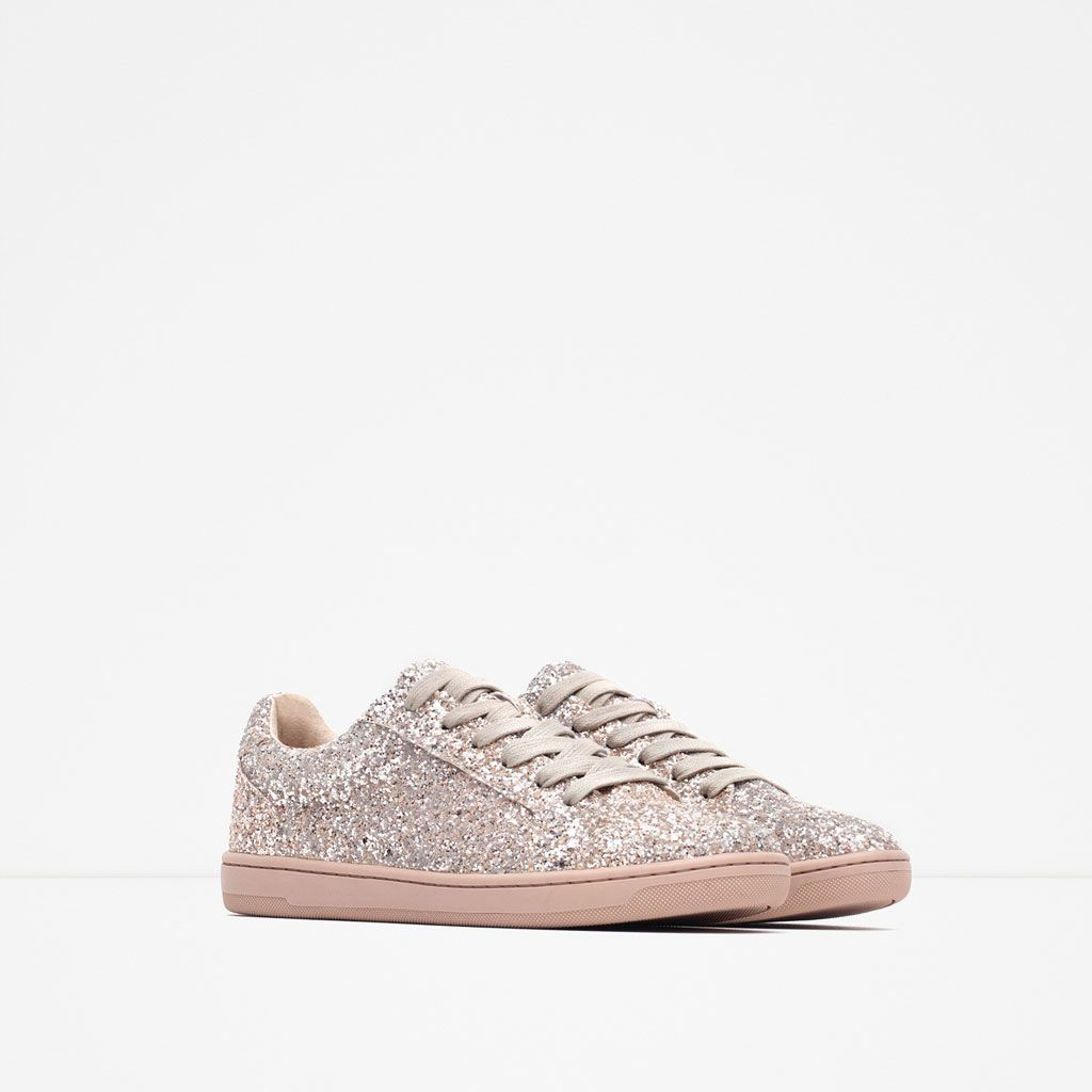 Image 2 of SPARKLE SNEAKERS from Zara