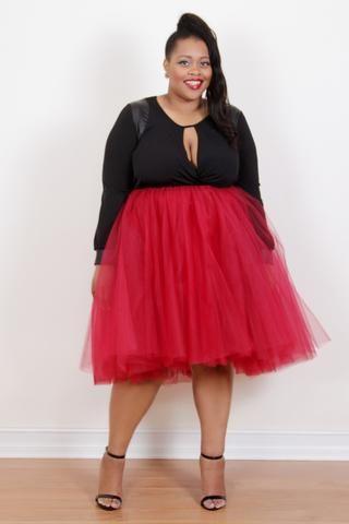 c09ea392640 Plus Size Clothing for Women - Society+ Premium Tutu - Red - Society+ - Society  Plus - Buy Online Now! - 1