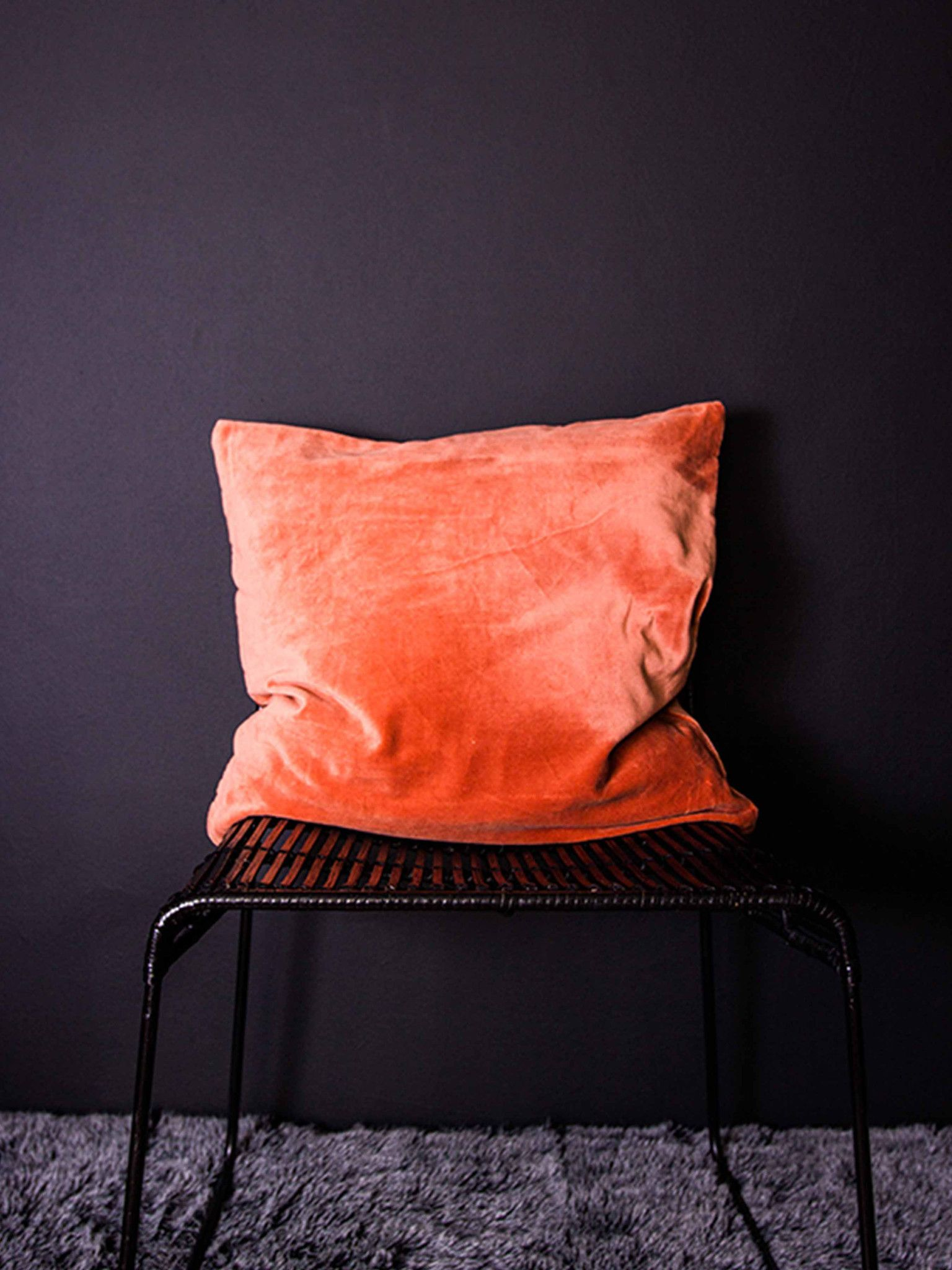 cushion, burnt orange velvet – dust - | color | pinterest | burnt