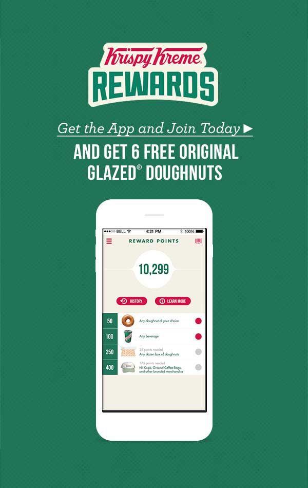 6 Free Donuts Via The Krispy Kreme App Krispy Kreme Coupons