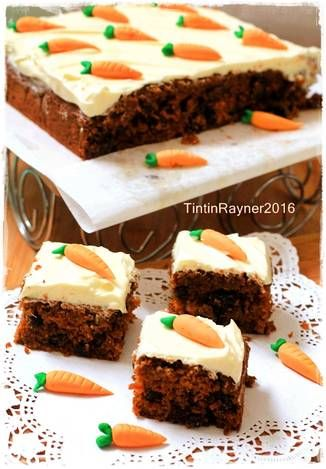 Resep Carrot Cake Palm Sugar Enakkkkk With Creamcheese Frosting Kocok All In One Oleh Tintin Rayner Resep Kue Lezat Makanan Resep