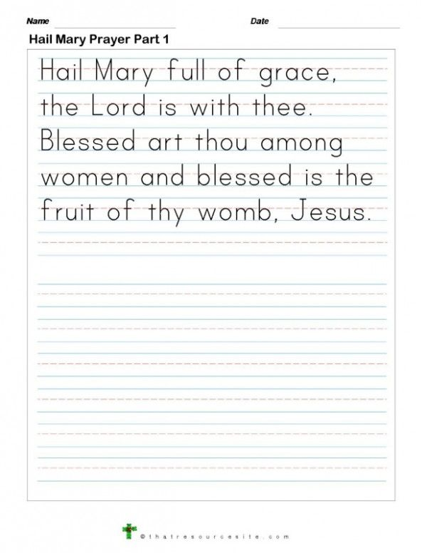 how to write a religious creed