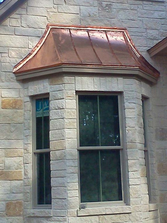 The Cypress Sweep Copper Bay Window Roof Adds Beauty Style And Functionality To Your Bay Window The Cypre Bay Window Exterior Brick Exterior House Bay Window