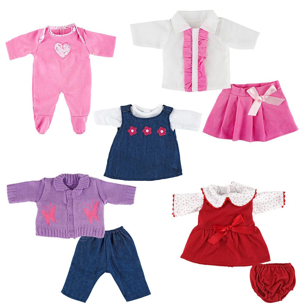 You Amp Me 5 Pack 12 14 Inch Doll Playtime Outfits Color