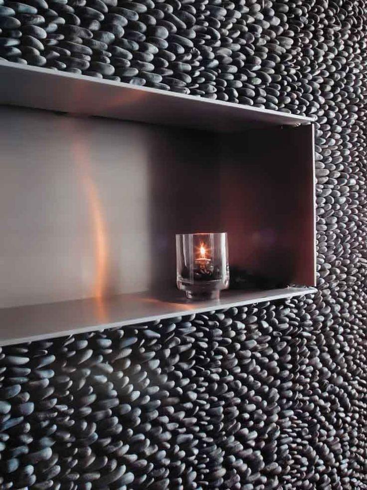 Parede da sala com textura de cascalho texturas em - Texturas de paredes ...