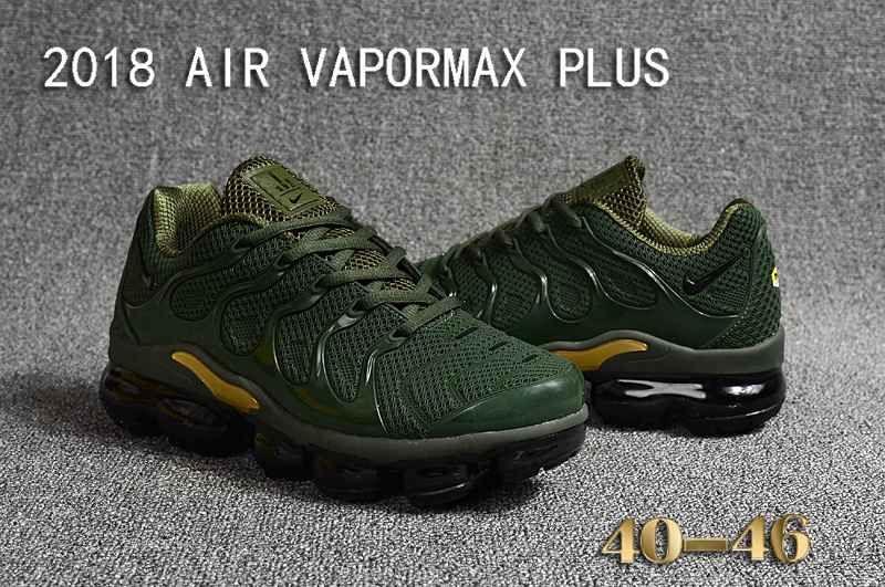 new product 48043 bfee7 Nike Air Vapormax TN Plus 2018 KPU Green Gold Men Sneakers ...