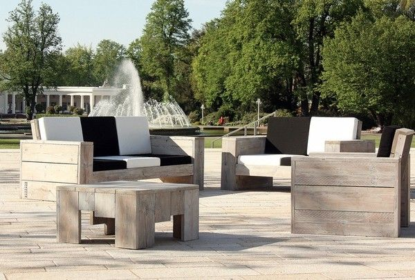 holz gartenm bel loungem bel terrassenm bel gastrom bel ideen rund ums haus pinterest. Black Bedroom Furniture Sets. Home Design Ideas