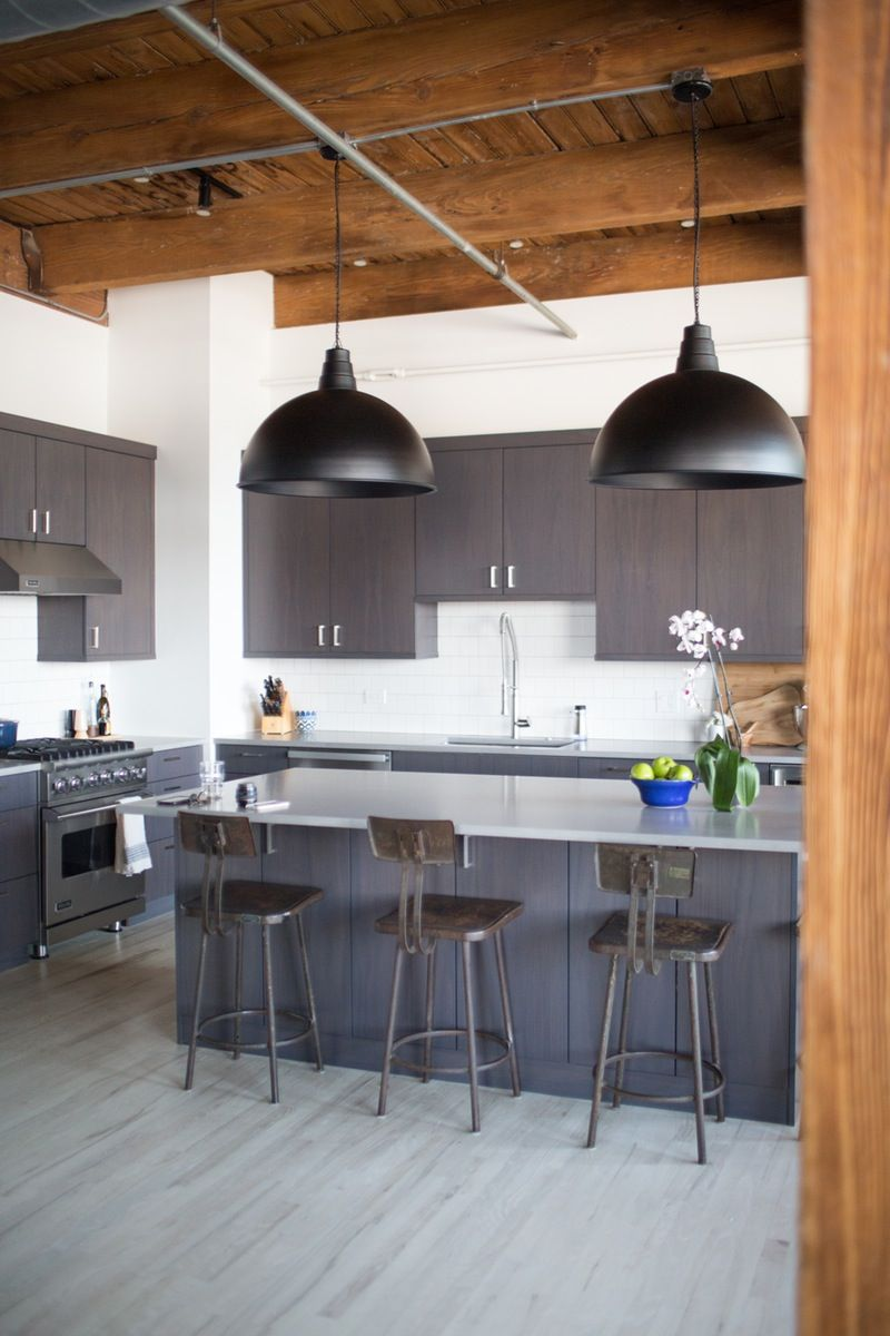 Contrasting, Comfy Industrial Style in Chicago Grey