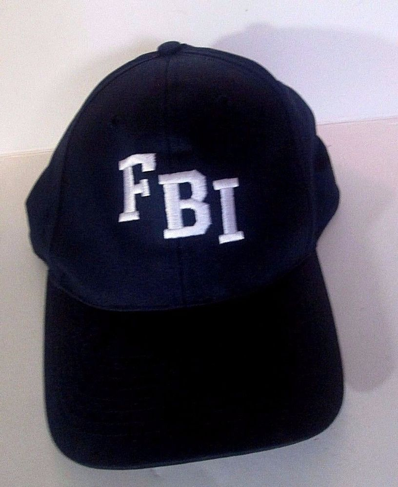 FBI Logo Adult Snapback Baseball HAT ~ Federal Bureau Investigation ... 312598a688e