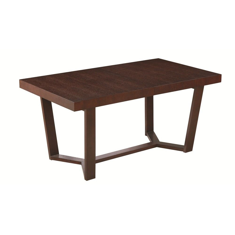 Class Extendable Dining Table in Dark Oak Wood Finish by J