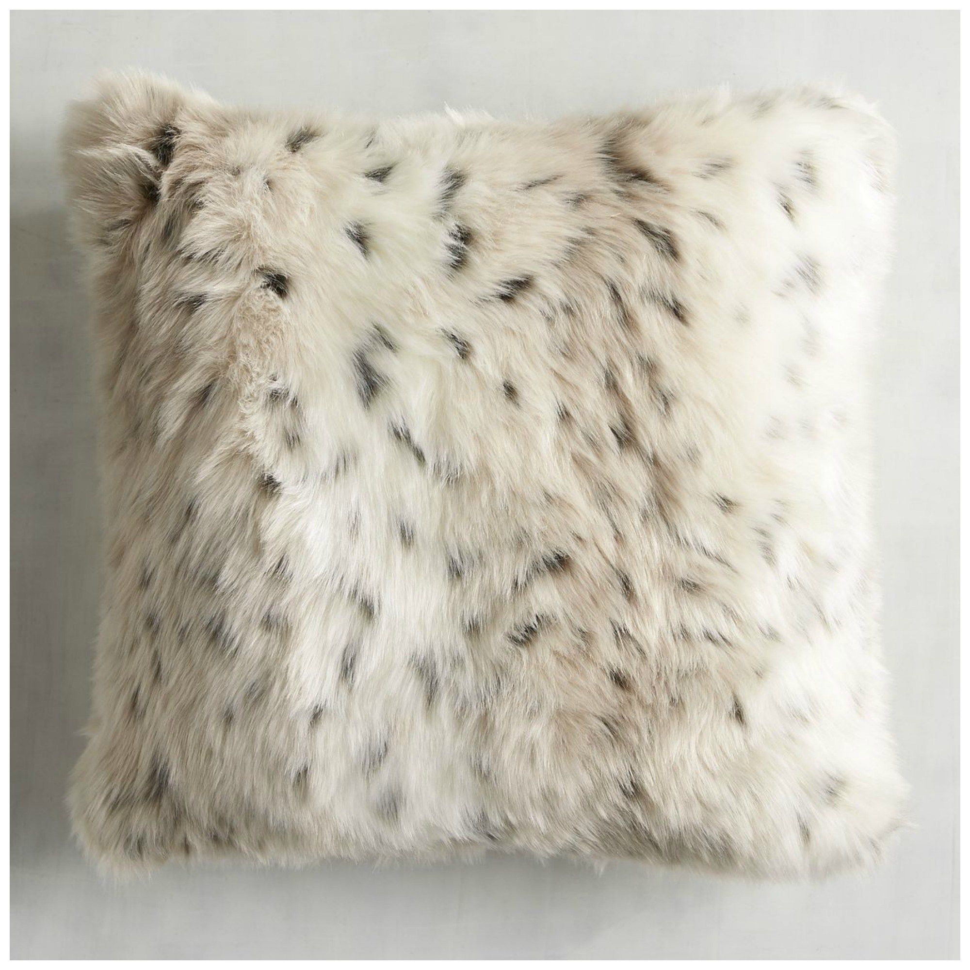 pologear off polyester square fur solid white inch llama pin beige accent x color size pillow washable faux
