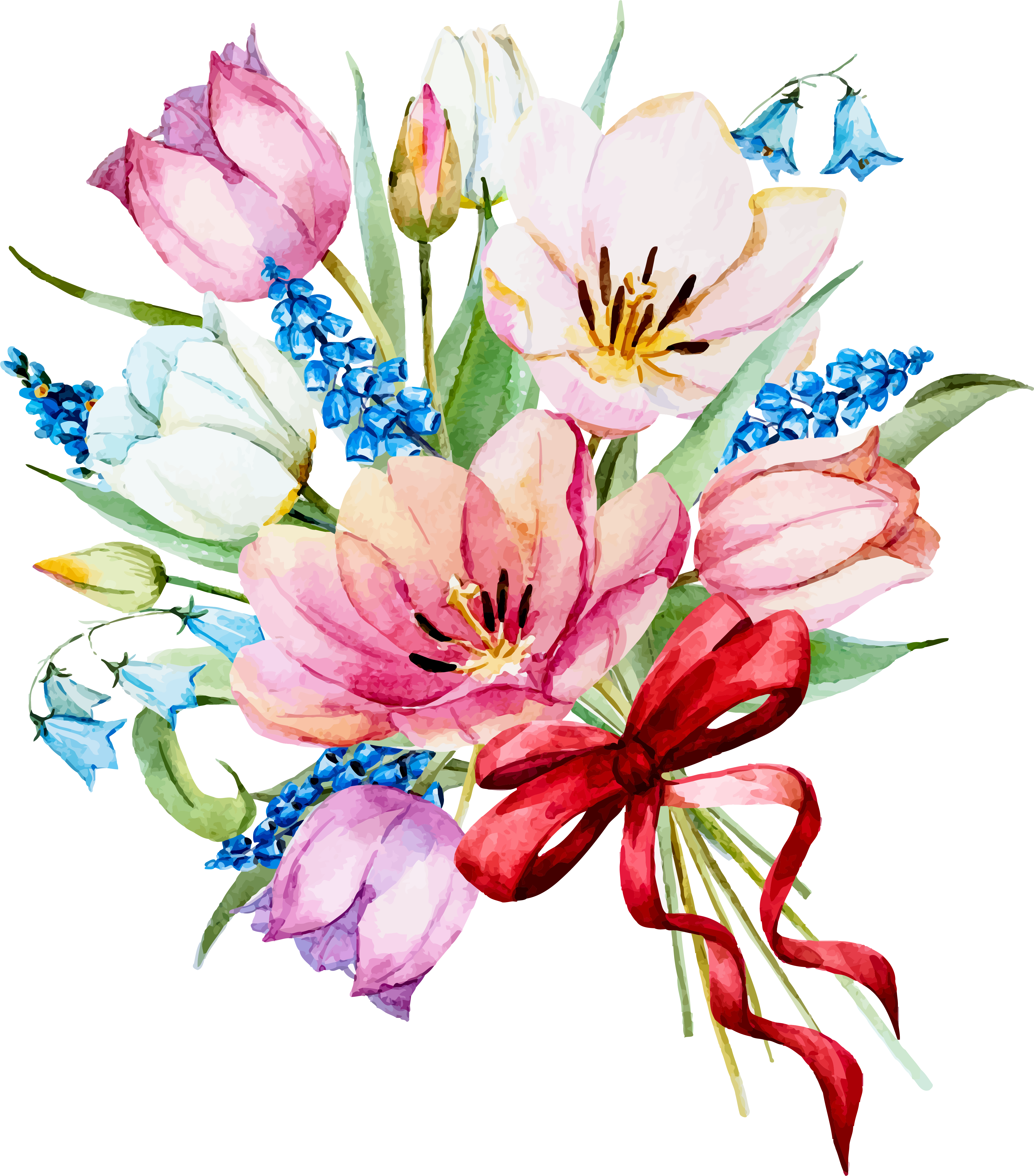 my design / beautiful flowers Watercolor flowers, Spring