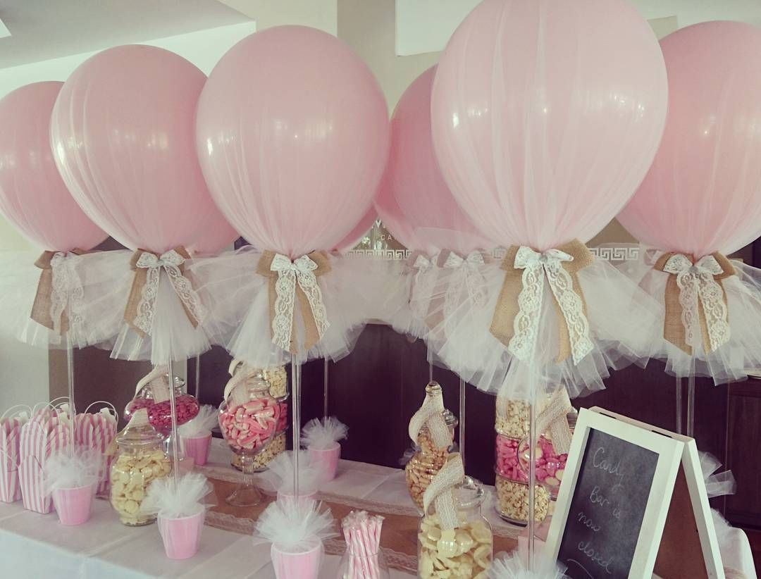 Vezi aceast fotografie instagram de boutique balloons for Balloon decoration for baby girl