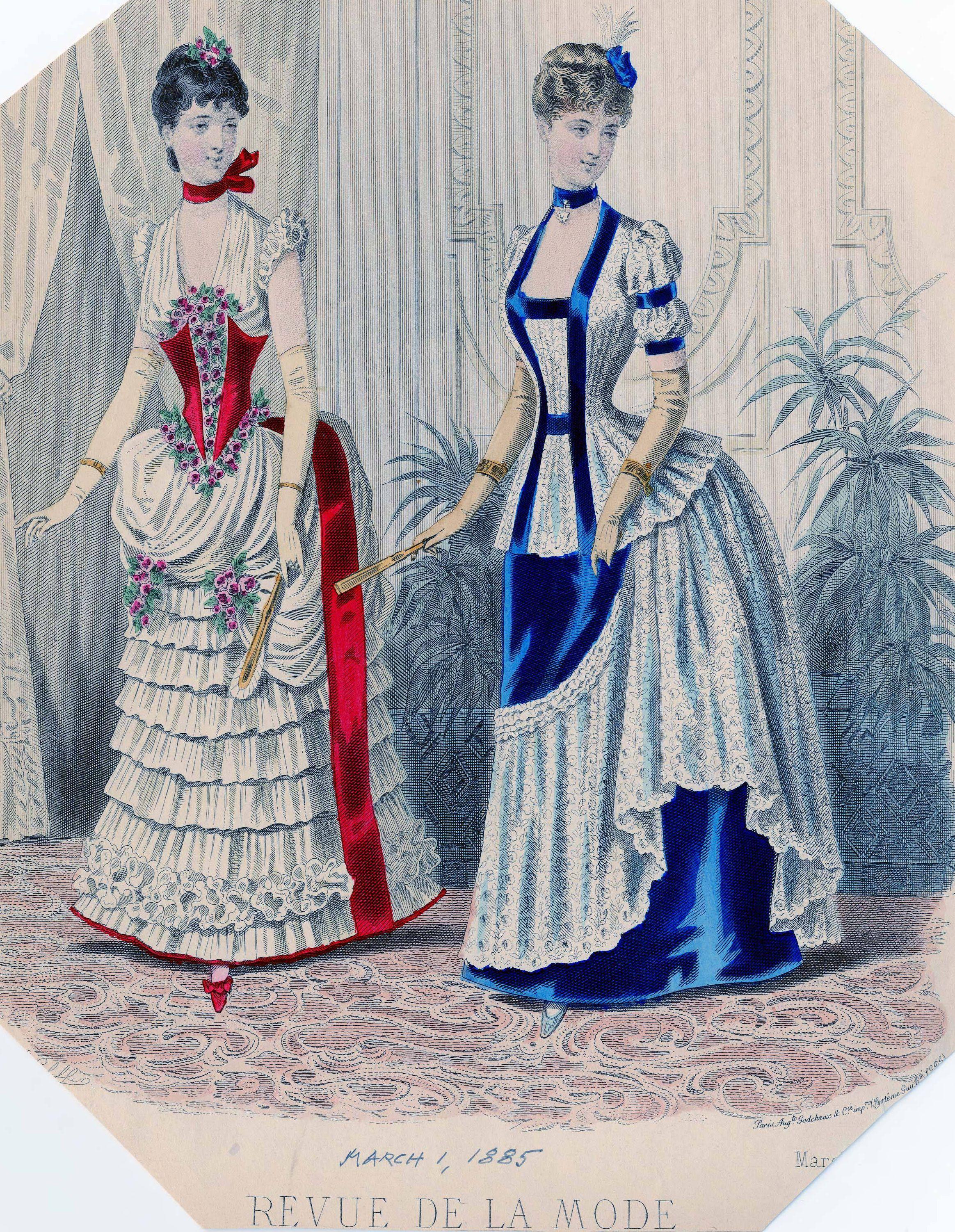 Revue de la Mode 1885 #englishdresses1880