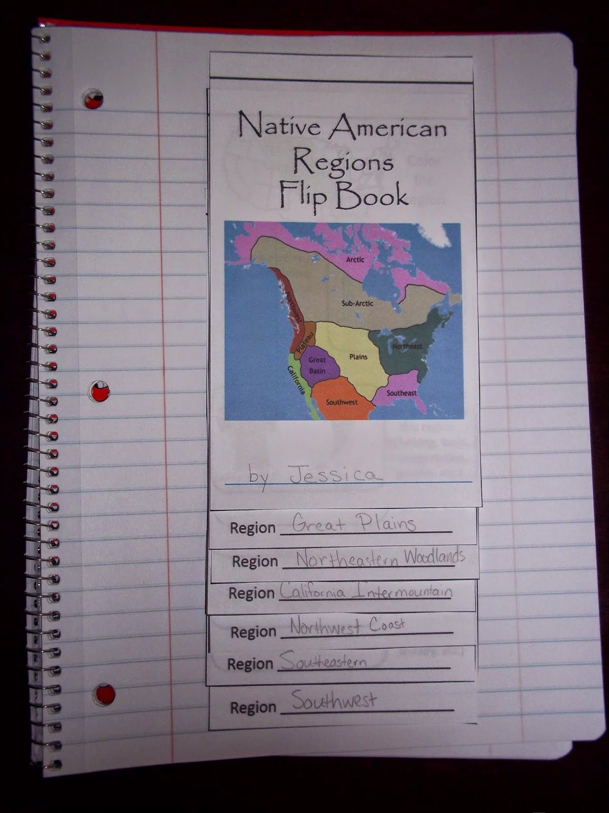 My Clever Endeavors: Native American Regions Flip Book - DONE!   Native  american regions [ 1600 x 1200 Pixel ]