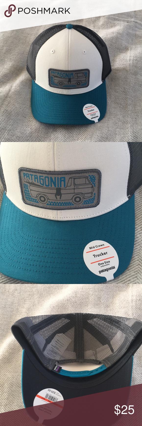 Patagonia Hat Brand new mid crown trucker hat so cute! Patagonia