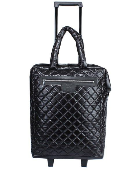 2f3b04f7255d Chanel CoCo Cocoon Quilted Nylon Trolley Case A90184 Black -  239.00 ...