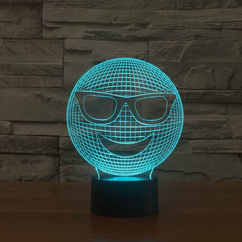 Smiley 3d Optical Led Illusion Lamp Lampeez 3d Illusion Lamp Lamp 3d Illusions