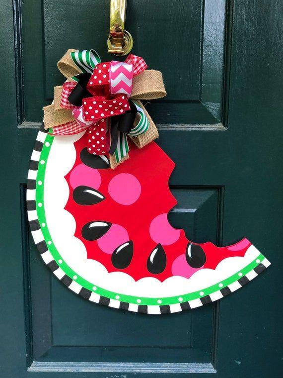 Watermelon Slice Door Hanger Door Hangers Hanger Handmade