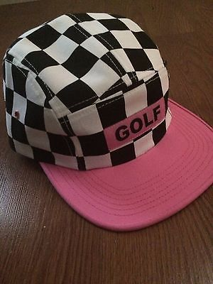 f4e6921b1e7 Rare Odd Future Golf Wang Cherry Bomb checkered Camp hat black pink ...