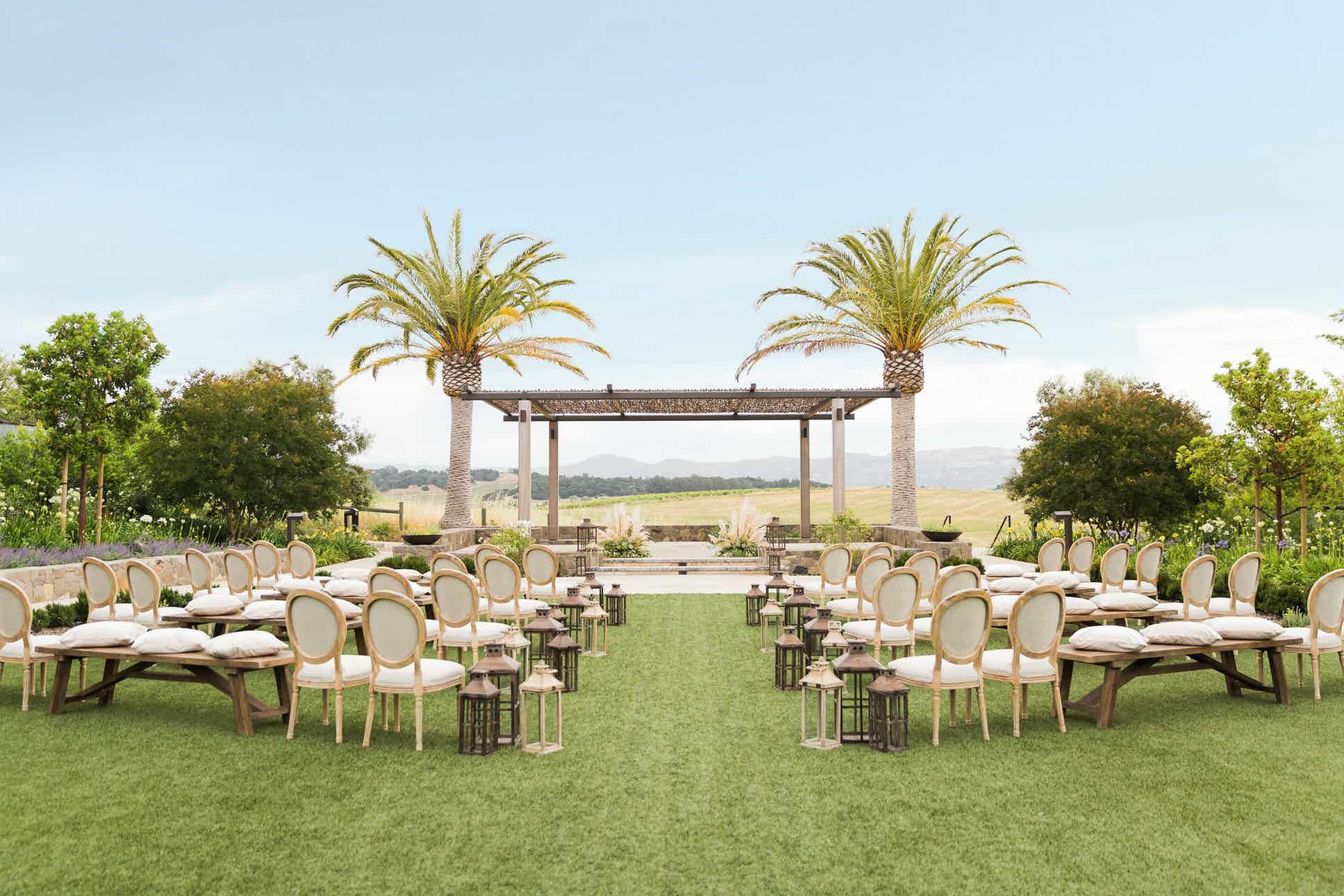 Carneros Resort and Spa Napa Wedding Venue Spa wedding