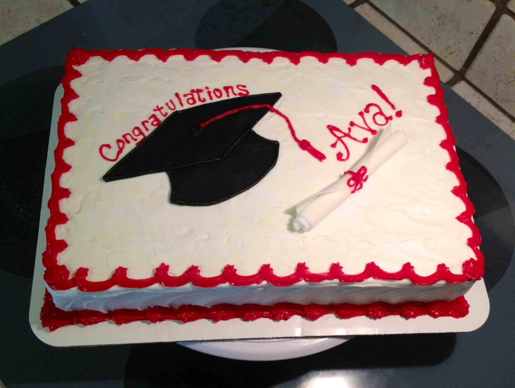 Simple Graduation Sheet Cake With Images Graduation Sheet