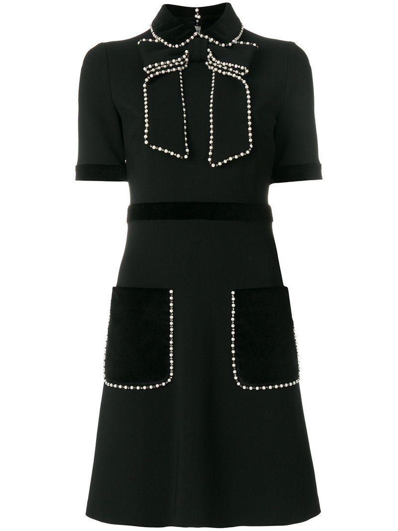 ce16486d1 GUCCI GUCCI - PEARL EMBELLISHED DRESS . #gucci #cloth # | Gucci in ...
