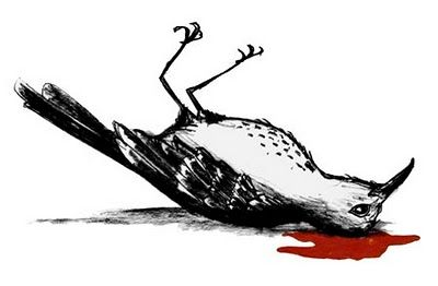 004 Ch. 24) The dead mockingbird represents the death of Tom