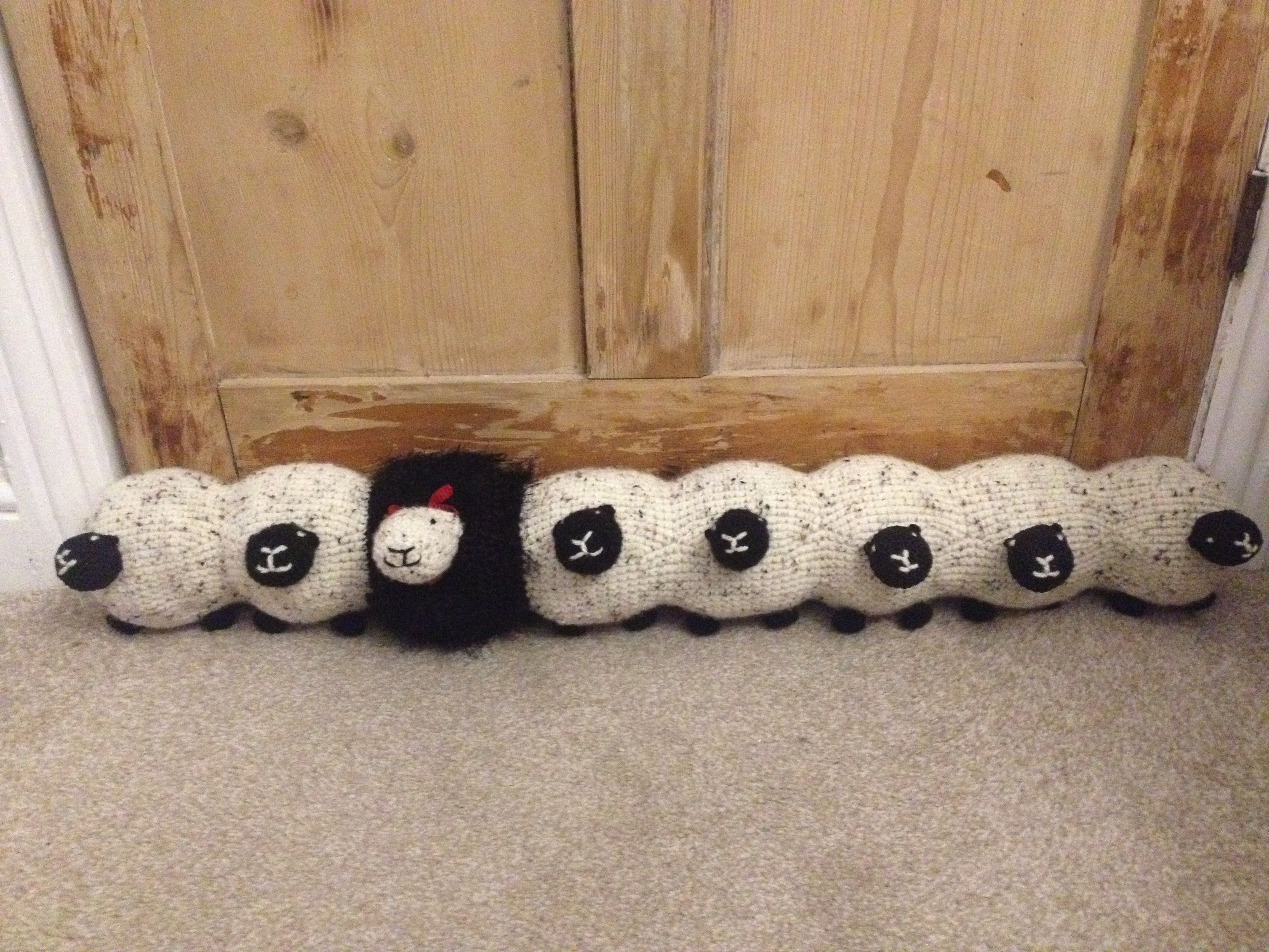 Ewe Tube Sheep Draught Excluder Draught Excluder Crafts Door Draught Excluder