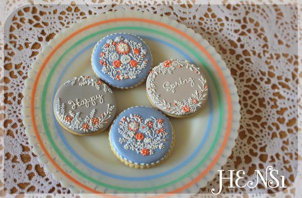 Spring Flower Cookies - HENS1 - 5