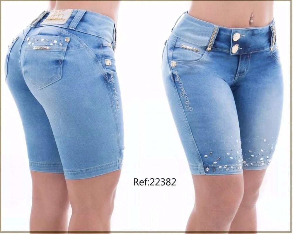 bef1715c86 Bermuda Pit Bull Jeans Original Modela Bumbum no Mercado Livre Brasil
